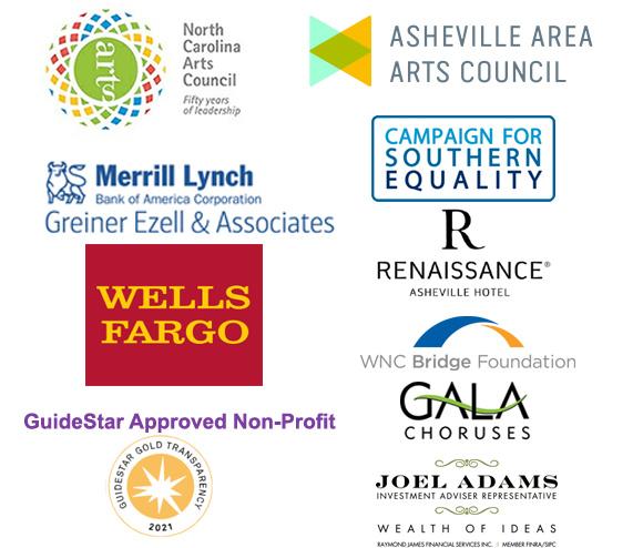 Asheville Gay Men's Chorus corporate sponsors, 2021